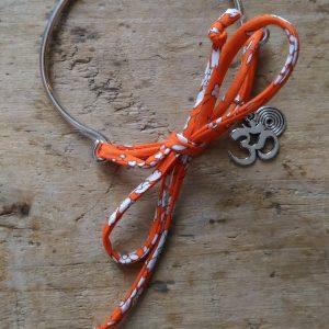 Bracelet mimetal miliberty orange symbole om