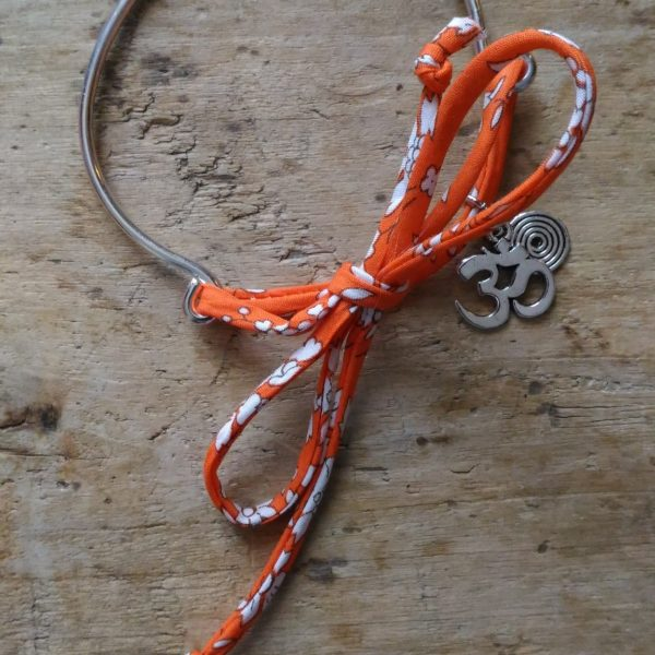 Bracelet mimetal miliberty orange symbole om