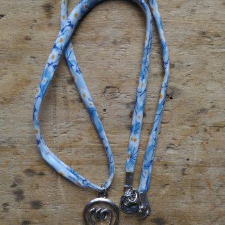 Collier Liberty bleu Ampoule