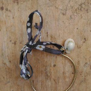 Bracelet métal bronze Liberty gris coquillage