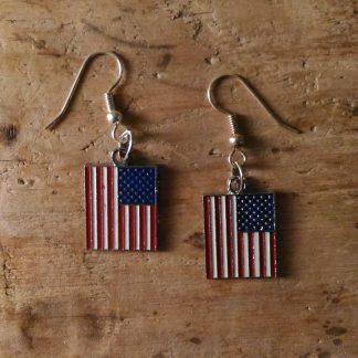 Boucles d'oreilles drapeau américain
