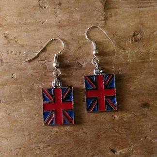 Boucles d'oreilles drapeau anglais