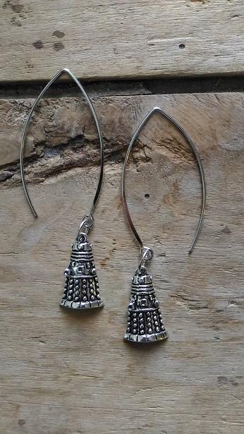 Boucles d'oreilles Doctor Who Dalek