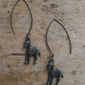 Boucles d'oreilles bronze zèbre