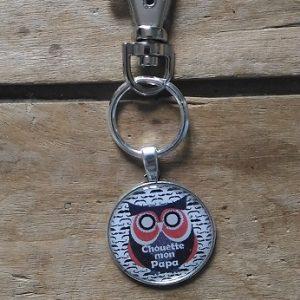 Porte clés Chouette mon papa