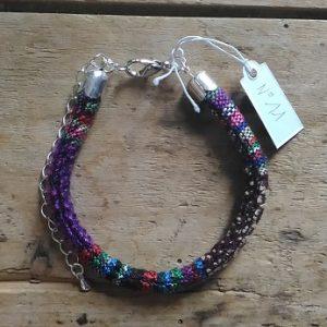Bracelet cordon ethnique tendance mauve n°11