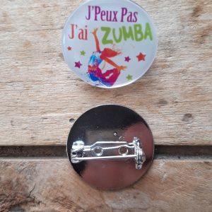 Broche-Pin's J'peux pas j'ai Zumba