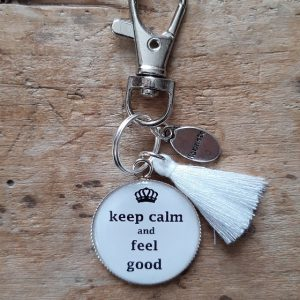 Porte-clés Keep calm and feel good
