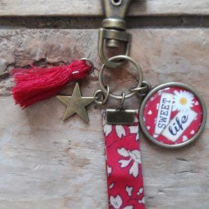 Porte-clés bronze Sweet Life tons rouge