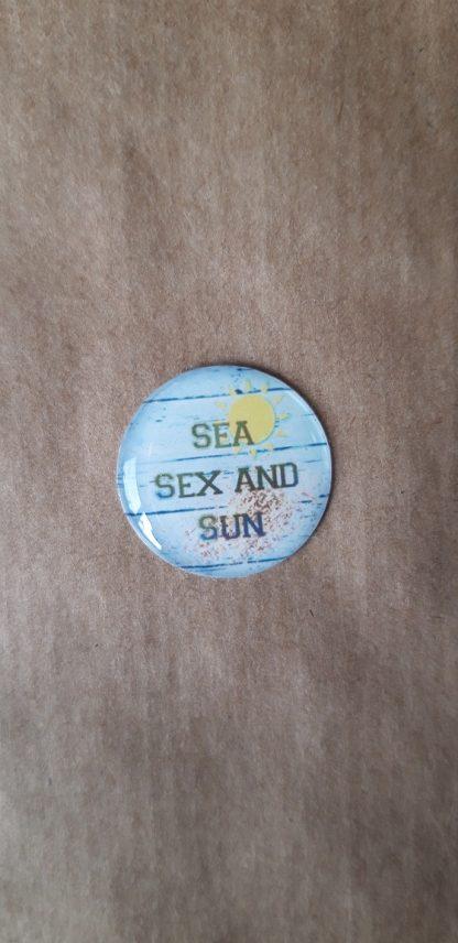 Sea sex and sun fond vert pale