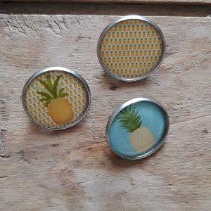 Broche-Pin's ananas x3