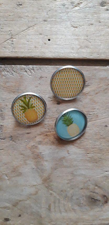 Broche-Pin's ananas x3