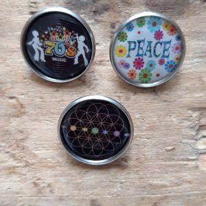 Broche Pin's argent Peace Années 70