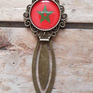 Marque-Page bronze drapeau Maroc