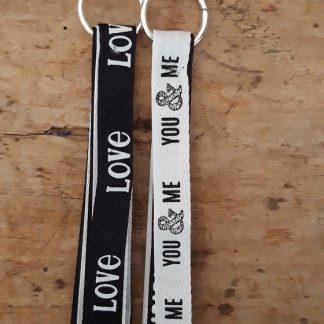 Porte-clés gri gri de sac X2 Love