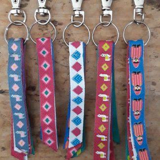 Porte-clés gri gri de sac X5 Amérique du Sud Lamas