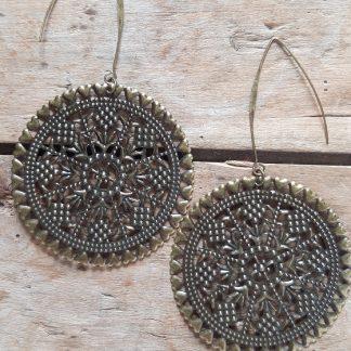 Boucles d'oreilles Grande Médaille bronze