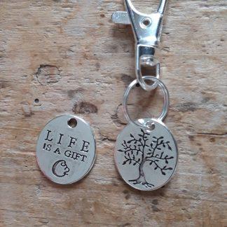 Porte clés Arbre de Vie Life is a gift