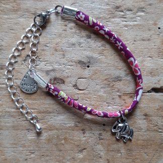 Bracelet Eléphant Liberty violet et rose