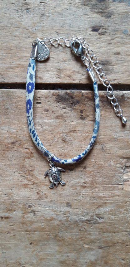 Bracelet Tortue Liberty Bleu Blanc