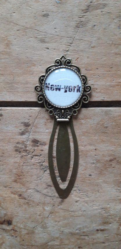 Marque-Page bronze New York Blanc