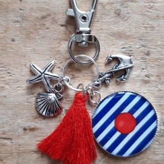 Porte-clés marin Pompon